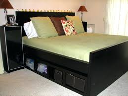 King Size Platform Bed With Storage King Size Ikea Bed Frame Bed Frame Adds Tons Of Places For Extra