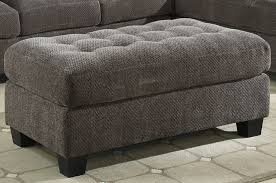 Tufted Grey Ottoman Lovable Fabric Storage Ottoman Interiorvues Intended For Grey