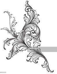 ornamental scroll growth vector getty images