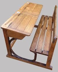 les de bureau anciennes ancien pupitre d écolier 2 places en bois marcel roy fabricant