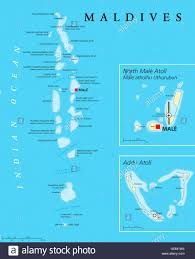 Maldives World Map by Maldives Political Map With Capital Male On Kings Island And Stock