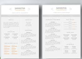 1 Page Resume Templates Two Page Resume Template Best Resume Collection