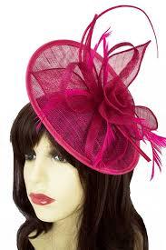 hair fascinators fuchsia pink hat fascinator with hairband pink hair fascinators