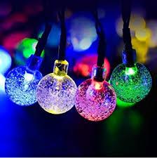 solar powered crystal ball globe string lights amazon co uk