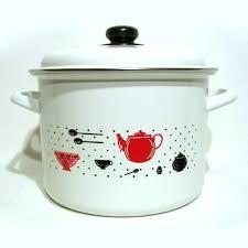 faitout et cuisine traiteur 24 cm email blanc décor cuisine achat vente