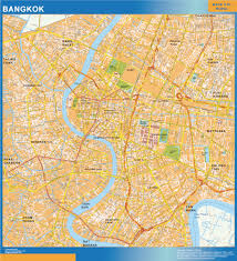 Bangkok Map Our Bangkok Wall Map Wall Maps Mapmakers Offers Poster