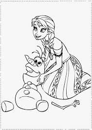 princess frozen anna coloring pages womanmate