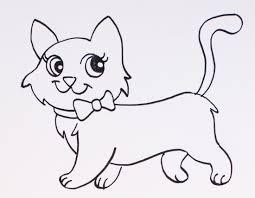 imagenes a lapiz de gatos dibujos de gatos cómo dibujar gatos fácil para colorear