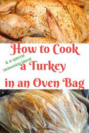 how to cook a turkey in an oven bag clever
