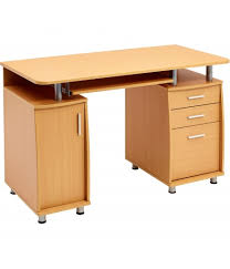 Computer Desk With Filing Cabinet by Emperor Beech Desk With A4 Drawer Piranha Trading