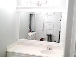 White Framed Oval Bathroom Mirror - white framed bathroom mirror double frames best frame mirrors