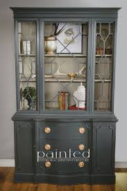 Annie Sloan Painted Bookcase China Cabinet Painted With Annie Sloan Chalk Paint In Graphite And