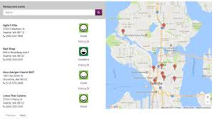 Amazon Seattle Map by You Can Now Map Food Safety Of Local Restaurants In King County