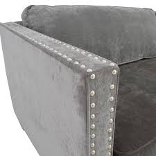 Leather Sofa With Studs by 81 Off Rowe Furniture Rowe Furniture Mitchell Grey Studded Sofa
