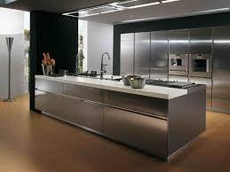 stainless steel top kitchen island breakfast bar black granite