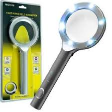 small magnifier with light lighted magnifying glass ebay