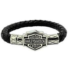bracelet stainless steel images Harley davidson leather bracelet stainless steel jpg