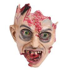 Walking Dead Halloween Costume Halloween Scary Bloody Zombie Mask Melting Face Latex
