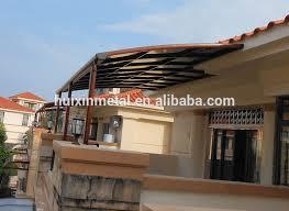 balkon vordach hochwertigem aluminium terrasse regen markise regen schatten