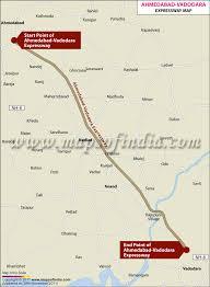 Distance Map Ahmedabad Vadodara Expressway Map Of Ahmedabad Vadodara Expressway