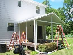 Sunroom On Existing Deck Gable Roof Over Deck In Poland Joe Koch Construction