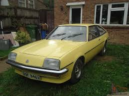 vauxhall yellow vauxhall cavalier gls sports hatchback coupe 1979