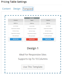 add pricing table to suffusion template