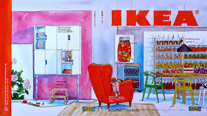 old ikea catalog guy parker rees painting the ikea catalogue cover