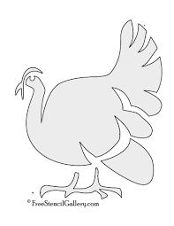 turkey stencil 01 free stencil gallery