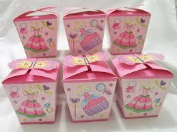 Birthday Favor Boxes by 6 Pink Princess Favour Boxes Birthday By Sparkleandcomfort