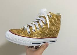 gold wedge shoes for wedding gold converse shoes bling wedge converse shoes toddle