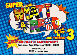 superhero birthday party invitations birthday party ideas