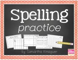 spelling practice great for homework or seat work grades 1 2
