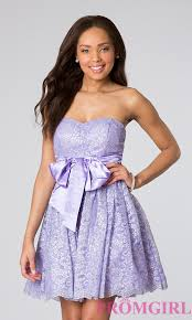 short strapless purple lace dress as u wish prom dress promgirl