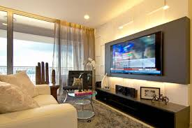 modern living room decorating ideas for apartments i like how the tv is mounted on the colored panel could make a