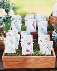 seed cards flower and plant wedding favor ideas martha stewart weddings