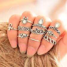 midi rings set silver midi rings