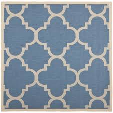 Square Indoor Outdoor Rugs Safavieh Courtyard Quatrefoil Blue Beige Indoor Outdoor Rug 7