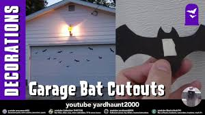 bat cut outs on garage door simple idea halloween video slide show