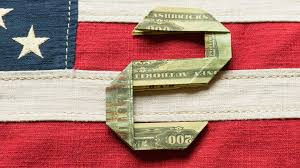 how to fold a number 2 out of a dollar bill money origami