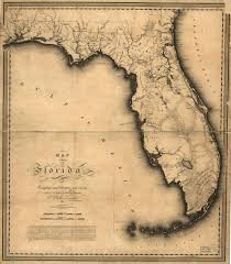 Map Of Florida by Map Of Florida Charles Blacker Vignoles With Selections From
