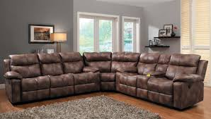 Soft Sectional Sofa Soft Brown Leather Project For Awesome Recliner Sectional Sofa