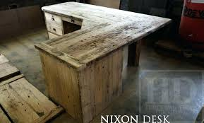 reclaimed wood l shaped desk custom l shaped desk reclaimed wood with drawers specs 3 on left