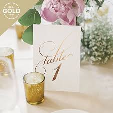 wedding table numbers gold wedding table numbers assorted color