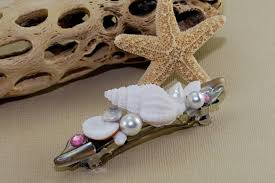 hair barrette seashell hair barrette hair accessories seashells mermaid