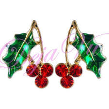 christmas earrings swarovski christmas earrings ebay
