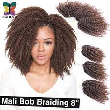 bob marley hair crochet braids 3pcs lot ombre wand curls mali bob twist crochet braids short hair