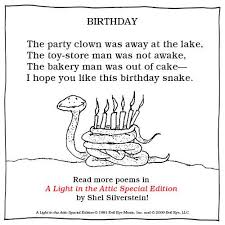 Light In The Attic Book Happy Birthday Shel Silverstein Shel Silverstein Facebook