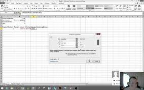 how to create a loan amortization table in excel microsoft excel