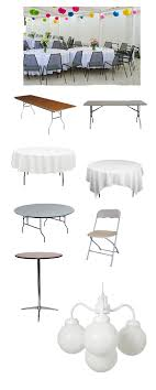 party rentals tables and chairs tables chairs party on tent rentals serving northern new jersey